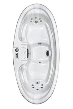 QCA Spas Model 0H SM Sirius 2-Person Oval Spa with 16 Stainless Steel Jets and 1 kW Heater