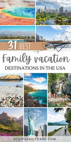 Top 31 Best Family Vacation Spots in the US for 2021
