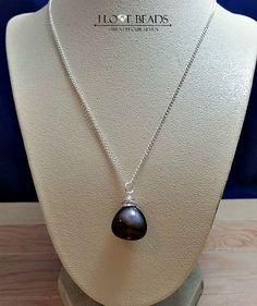 Obsidian Necklace-snowflake obsidian-black obsidian-Sterling silver necklace-  Natural Gemstones