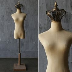 Fabric And Metal Mannequin With Crown