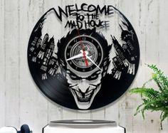 Reloj de vinilo de Batman Joker vinilo Registro por RollingPinShop