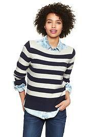 Striped boatneck pullover