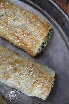 Roasted Pumpkin Spinach Feta Rolls