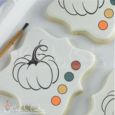 Thanksgiving themed cookie stencils for decorating cookies, cakes, and confections. These durable and washable stencils are made from 10 mil food-safe material. Thanksgiving Cookies, Thanksgiving Crafts, Halloween Stencils, Paint Cookies, Cookie Tutorials, Biscuits, Trick Or Treat Bags, How To Make Paint, Halloween Cookies