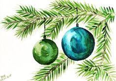 13 mentions J'aime, 6 commentaires - @boligado sur Instagram : « #watercolor #watercolorpainting #aquarelle #aquarellepainting #aquarell #akwarele #noel #christmas »
