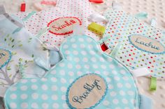 Taggie blankets by Down Grapevine Lane