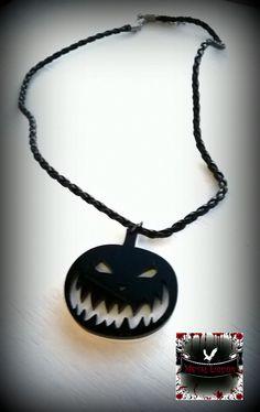 Pumpkin Necklace by MetalLiquor on Etsy