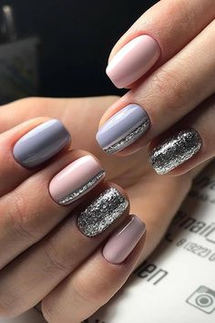 Decorated nails: this is the manicure that you want this herb .- Verzierte Nägel: Dies ist die Maniküre, die Sie diesen Herbst tragen werden … Decorated nails: this is the manicure you& wear this fall … – – - Stylish Nails, Trendy Nails, Cute Acrylic Nails, Cute Nails, Glitter Gel Nails, Winter Nail Designs, Nail Art Designs, Simple Nail Designs, Hair And Nails
