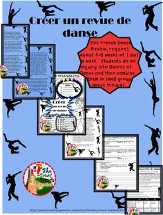 French: REVUE DE DANSE (DANCE SMASH) for gr. 6,7,8 typically takes a min. of 4-6 classes, 1X/week. The hook is an engaging You Tube video to get students thinking about genres of dance for their inquiry. Teacher notes are in English but the student learning criteria, rubric, organization sheet, and self-evaluation are in French. Report card comment suggestions are in English: REVUE DE DANSE! TPT$