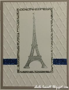 Sheila's Stamping Stuff: Spotlight on Seasonal Expressions 1 ~ Stampers with an Attitude (Blog Hop)   #ctmh #ctmhcreate #cardmaking #eiffeltower #emboss