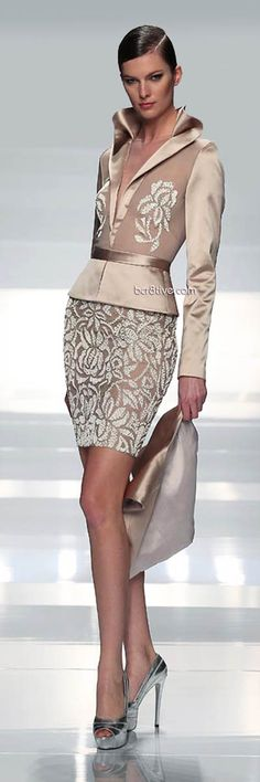 Tony Ward Nude Rose Outfit Spring Summer 2013 Haute Couture #Fashion #Heels #Style