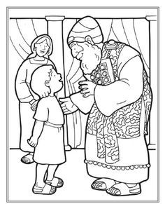 Samuel Served As A Boy Coloring Page