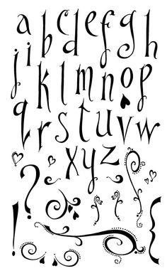 Enthusiastic Lowercase Alphabet (Model#52007) - Acrylic Stamp