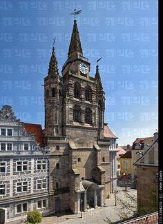 Fassade von St. Gumbertus, Ansbach, Germany