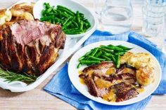 Glazed lamb with apricot and rosemary sauce and crushed potatoes