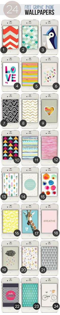 24 #Free Graphic #Wallpapers for #iPhone 4 and 5