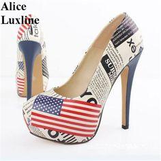 nice Tendance Chaussures 2017 - 2017 Fashion USA Flag Sexy 14cm High Heels Platform Shoes //Price: $69.68 & ...