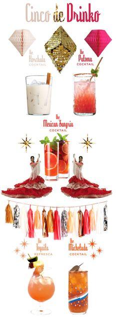 Cinco de Drinko - horchata cocktail, paloma cocktail, Mexican sangria cocktail