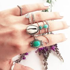 ◈◈ Bohemian Treasures! ◈◈ Our beautiful natural turquoise treasures in store now! ༓༓ www.shopdixi.com ༓༓