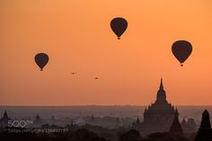 Balloons over Bagan by XiaoguangMei