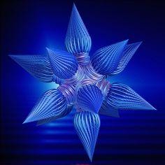 Blue star fractal. #fractal #bluefractal