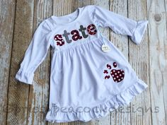 MSU Mississippi state Bulldogs applique dress Made by prissypeacockdesigns@gmail.com.etsy.com