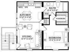 Small Floor Plans, Cabin Floor Plans, Open Concept Floor Plans, Small House Plans, Garage Apartment Plans, Garage Apartments, Garage Plans, Car Garage, The Plan