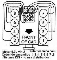 FIRING ORDER DECAL Chevrolet small block Chevy 267 283 327
