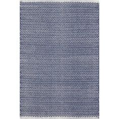 Shop AllModern for Dash and Albert Rugs Herringbone Indigo Blue Geometric Area Rug - Great Deals on all  products with the best selection to choose from!