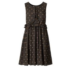 Orla Kiely Tiny Lovebirds Silk Georgette Sleeveless Dress