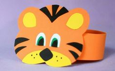Tigre Headband Crafts, Hat Crafts, Diy And Crafts, Crafts For Kids, Arts And Crafts, Paper Crafts, Safari Theme Party, Jungle Theme, Animal Hats