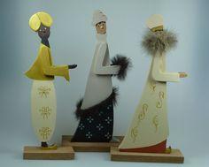 Krippenfiguren aus Holz - Die Hl. 3 Könige