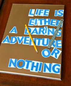 DIY Travel Quote Canvas