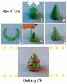 BlackBetty'sLab: Christmas Tree, could change clay into fondant