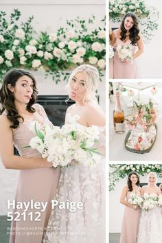 light pink and neutral colored bridesmaid dresses | wedding ideas you'll love | hayley paige bridal | bridesmaid dress inspiration | dusty rose | elegant and sophisticated bridesmaid dresses Blush Pink Bridesmaid Dresses, Blush Pink Wedding Dress, Junior Bridesmaids, Blush Pink Weddings, Wedding Bridesmaid Dresses, Hayley Paige Bridal, Wedding Shoppe, Wedding Inspiration, Wedding Ideas