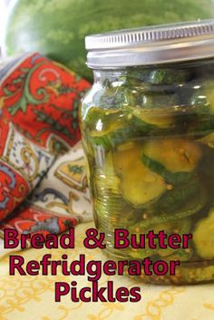 Bread & Butter Pickles, Bread N Butter, Canning Pickles, Recipe Girl, Recipe Box, Refrigerator Pickles, Veggie Recipes, Veggie Food, Vegetable Dishes