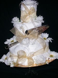wedding towel cake --gift