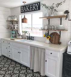 Galley kitchen makeover on a budget.