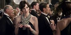 My dress looks similar to Jordan Baker's from the latest Great Gatsby Film (purely by accident! lol).  Mine is black with crystal type sequins just like hers, but my dress doesn't have so many sequins up at the top.  Instead, the sequins are designed in a pattern over the entire dress.
