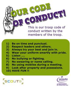 scout code of conduct - Google Search