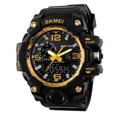 SKMEI 1155 50M Waterproof Men Sport Watch Camouflage Compass LED Digital Watch - Banggood Mobile