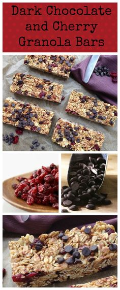 You'll never buy another store bought granola bar after trying these Dark Chocolate and Cherry Granola Bars.