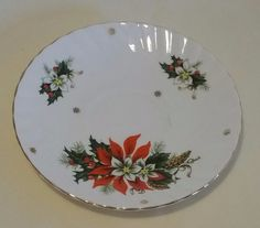 """Vintage Royalty """"Noel"""" saucer fine bone china made in England  5 ¾ inch"""