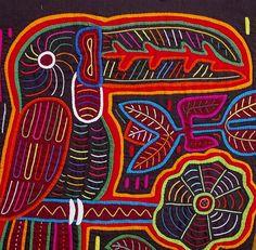 mola toucan...is a reverse applique technique.....vwr