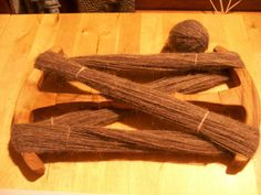 """Got my """" age"""" niddy-noddy in the post today. Here is is being used to make a skien of my Viking Culture, Viking Life, Natural Dyeing, Norse Vikings, Wooden Projects, Post Today, Hand Spinning, Knits, Tatting"""