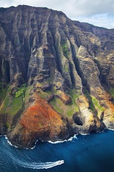 Na Pali Ridges And Lava Tube Photograph  - Na Pali Ridges And Lava Tube Fine Art Print