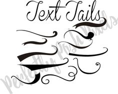 Fonts With Tails Glyphs Cheat Sheet Cricut Fonts
