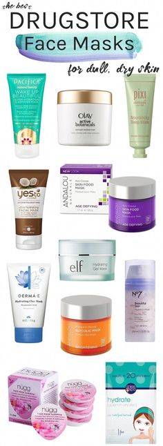 DIY Hair Masks And Face Masks 2018 : Dull, dry skin? You NEED one of these best drugstore face masks for dry skin tha DIY Hair Masks And Face Masks 2018 : Dull dry skin? You NEED one of these best drugstore face masks for dry skin tha Best Drugstore Face Mask, Drugstore Skincare, Best Moisturizing Face Mask, Acne Face Mask, Face Masks, Best Face Mask, Creme Anti Rides, Essential Oils For Face, Mask For Dry Skin