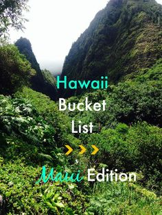 Planning a vacation to the Hawaiian island of Maui? Click through to read our must see Maui bucket list!