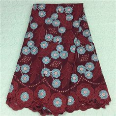 African Embroidery Lace Fabric LKLACE1342-13  https://www.lacekingdom.com/      #embroiderylace